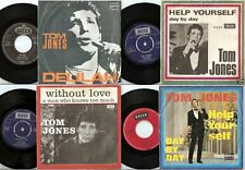 TOM JONES 2 DANISH 1 GERMAN 1 YUGOSLAVIA ORIGINAL 45s & PICTURE SLEEVES MOD SOUL