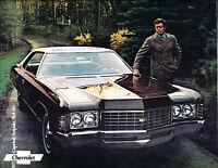 1971 Chevrolet Chevy Impala Bel Air Caprice Original Dealer Sales Brochure
