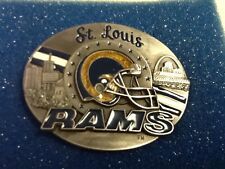 Vintage 1995 ST. LOUIS RAMS SISKIYOU Belt Buckle Limited Edition #3369/10K NEW