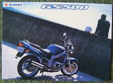 SUZUKI GS 500 MOTORCYCLE SALES BROCHURE JANUARY 2001