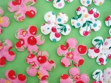 50 Pink/Red Cherry Print Cotton Flower Fabric Applique/Notion/Quilting/Trim H459