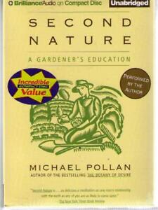 Second Nature by Michael Pollan (2009) CD COMPLETE & UNABRIDGED !!