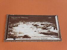CHROMO PHOTO CHOCOLAT SUCHARD 1930 COLONIES LAOS INDOCHINE RAPIDES DU MEKONG