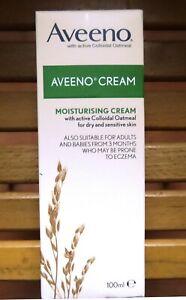 AVEENO Moisturising Cream Natural Colloidal Oatmeal 100ml for Dry Sensitive Skin