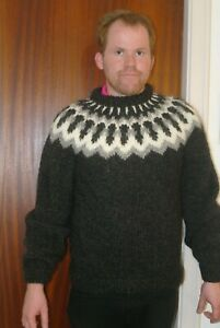 Winter Icelandic wool sweater