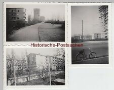 (F5296) 3x Orig. Foto Berlin, neue Häuser am Treseburger Ufer um 1960