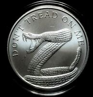 2019 Silver Shield 1 oz. DONT TREAD ON ME BU Silver Round in Capsule! .999 Pure
