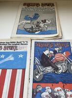 Rolling Stone Magazines 1971 & 1972 Ralph Steadman Art Newspaper Style Vintage