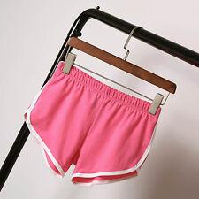 Women Girls Hot Pants Running Shorts Elastic Slim Gym Beach Sports Yoga Shorts