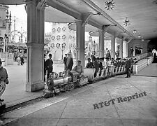 Photograph Vintage 1905 New York Coney Island Train Rides 8x10