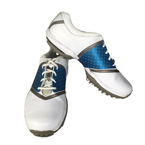 Nike Air Golf Shoes Light Blue Saddle White Women's Size: 11