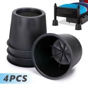 4Pcs Heavy Duty Bed Chair Risers Feet Leg Lift Furniture Extra Raisers Stand