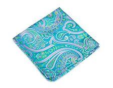 Lord R Colton Masterworks Pocket Square - St Ives Glacier Blue Silk - $75 New