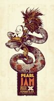 Pearl Jam Concert Poster Santiago de Chile November 16 2011 South American Tour