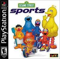Sesame Street Sports Playstation 1 Game PS1 Used Complete