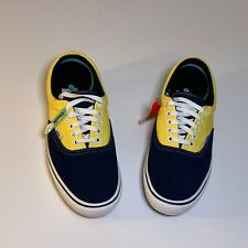 VANS ComfyCUSH Yellow/Navy Size Men-9.0 Women-10.5 New (No Box)