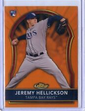 2011 TOPPS FINEST #74 JEREMY HELLICKSON ROOKIE ORANGE REFRACTOR 54/99, TAMPA BAY