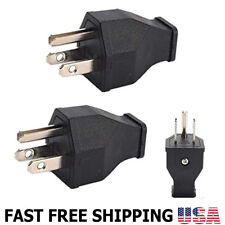 2pcs 15 Amp 125 Volt Straight Blade Plug 3-Wire Male Extension Cord Replacement