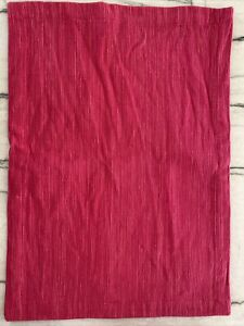 NEW Crate and Barrel Placemats Set of 4 Cotton GRASSCLOTH Pink Azalea