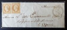 Enveloppe CORSE avec Double Napoléon 10c Brun Surchargé - MURO pour AJACCIO 1855