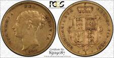 1886m Australian Half Sovereign PCGS graded XF40 - Rare keydate coin, huge C/V!!
