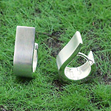 Ostheimer-Schmuck, Klapp Creolen matt gebürstet 925 Sterling Silber