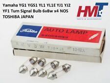 Yamaha YG1 YGS1 YL1 YL1E YJ1 YJ2 YF1 Turn Signal Bulb 6v8w x4 NOS TOSHIBA JAPAN