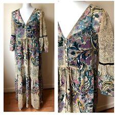 Zara Trf Womens Maxi Festival Boho Style Dress Size M BNWT