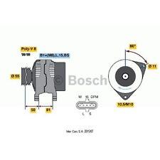 Alternador, generador Bosch 0 124 555 005