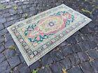 Handmade wool rug, Turkish vintage rug, Carpet, Bohemian rug | 2,0 x 3,4 ft