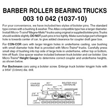 Micro-Trains 00310042 - Barber Roller Bearing Trucks With Medium Extension Co...