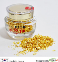 KR 24K 100% Gold Leaf Gilt Powder Edible Flakes Food Decoration Glass Jar 300mg
