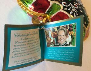 CHRISTOPHER RADKO 2005 RETIRED Glass Filigree Heart 1012362 NWT POLAND Love
