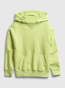 NWT Gap Kids Boys Knit Fleece Hoodie, Green thumb, Sz L(10)