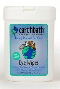 Earth bath Eye Wipes 25ct (Free Shipping In USA)