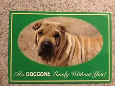 POSTCARD USED CHINESE CHAR-PEI NAMED GORKY IT'S DOGGONE LONELY WITHOUT YOU