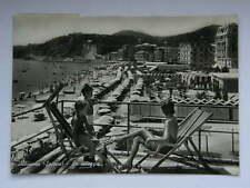 Albissola Savona spiaggia vecchia cartolina