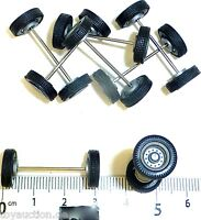 8 Stück Radsatz LKW Felgen silber H0 1:87 tuning Ladegut Deko  R321     å
