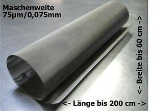 Filtergewebe Edelstahl Mesh Gaze Drahtfilter 0,075mm 75µm  // 30-200x60cm