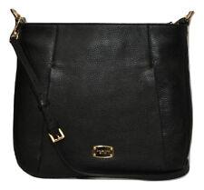 Michael Kors HALLIE Large Convertible Shoulder Bag Hobo Black Nwt $348