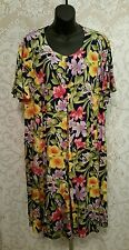 Fitting Image Floral Print Rayon Romper Dress Sz 22 #2077