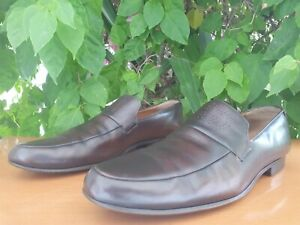 Gucci GG Men's Brown Leather Loafers Size 10.5 D