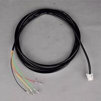 Vintage Style Telephone Round Line Cord - Black - Spade to Modular - SKU - 23053
