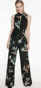 Cue Jumpsuit Bird Of Paradise Floral Size 10 RRP$400