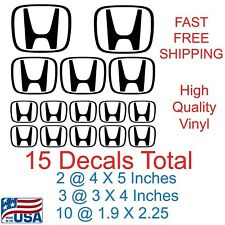Mega Pack of Honda Logo/ Emblems / Decals 15 Total Stickers Fast Free Shipping