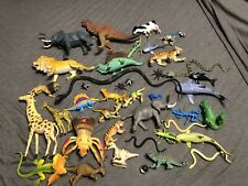 40 Piece Pvc Animal Figures Lot: Zoo, Safari, Wildlife, Farm, Dinosaur, Bugs Etc