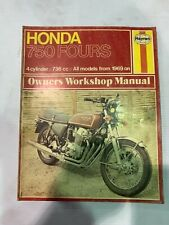 USED GENIUNE HAYNES HONDA 750 FOURS 1969 on SERVICE WORKSHOP MANUAL HM131