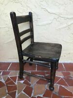 VTG. Antique Dark Wood small Wooden Childs/kids/Youth School Chair ladder style