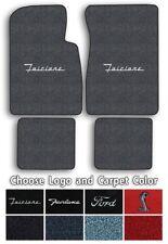 Ford Fairlane Custom Logo Loop Carpet Floor Mats - Choose Mat Color And Logo