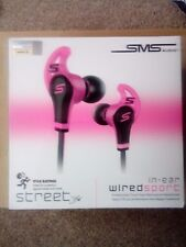 iPhone Compatible Headphones, SMS Audio Street by 50 Cent, In-Ear - Sport Pink